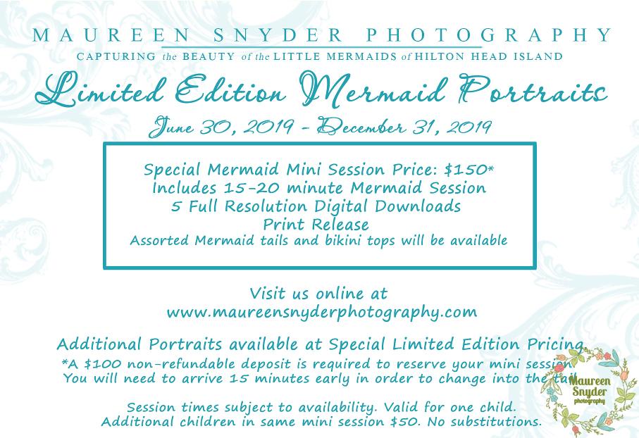 Hilton Head Mermaid Portraits